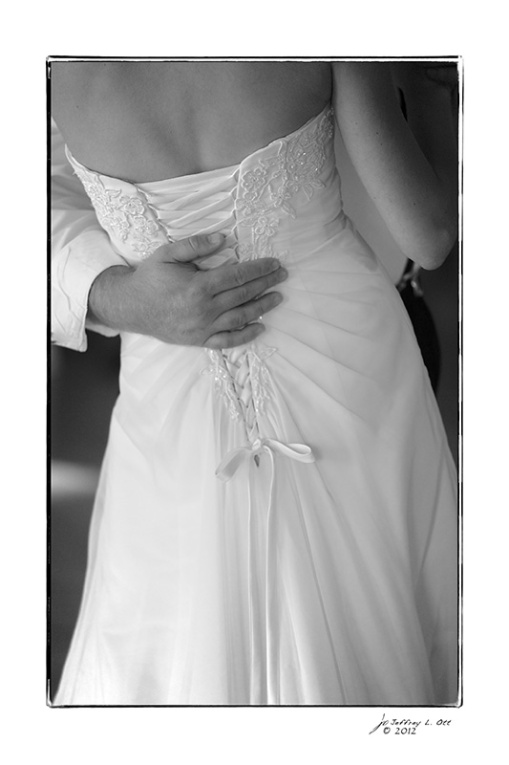 The Back of Lauren's Wedding Dress
